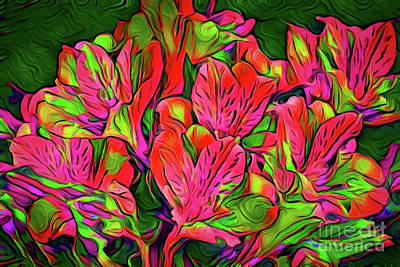 Painting - Flowers A18-165 by Ray Shrewsberry