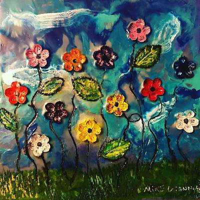 Painting - Flowers Abstract by Michael Giannella