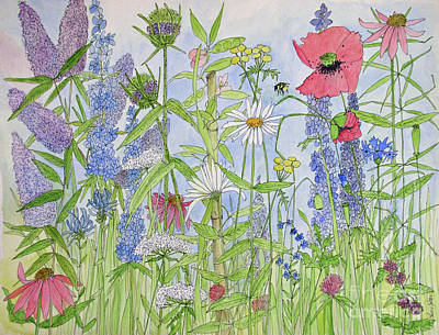 Painting - Flowers are Alive by Laurie Rohner