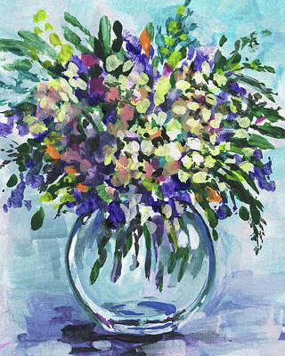 Painting - Flowers Bouquet Wildflowers Blast Floral Impressionism  by Irina Sztukowski