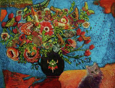 Mixed Media - flowers for Stella by Evy Olsen Halvorsen