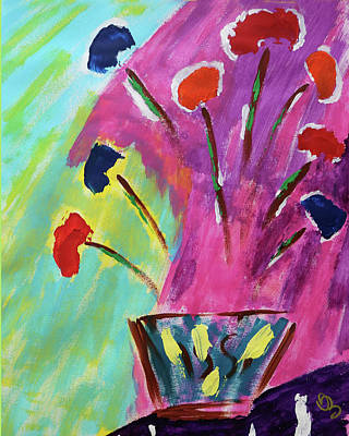 Painting - Flowers Gone Wild by Deborah Boyd