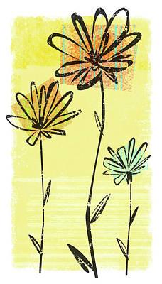 Digital Art - Flowers In Springtime by Harry Briggs