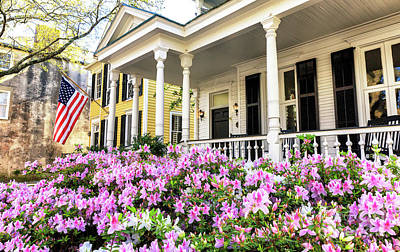 Photograph - Flowers In The Front Yard Charleston by John Rizzuto