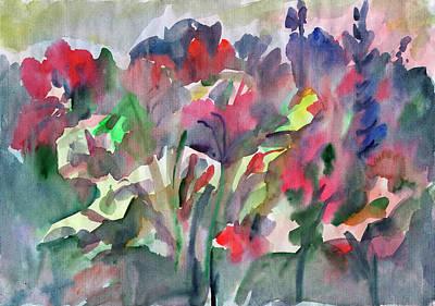 Painting - Flowers In The Garden by Irina Dobrotsvet