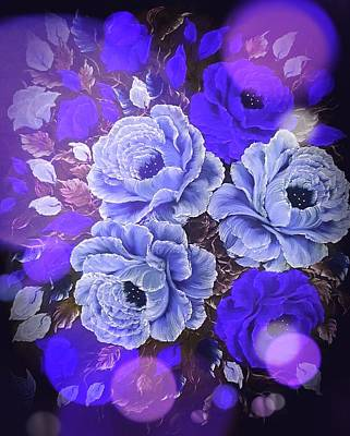 Fruits And Vegetables Still Life - Flowers supreme blue stardust blue  by Angela Whitehouse