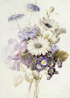 Painting - Flowers With Daisies, 1840 by French School