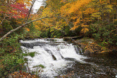 Photograph - Flowing Into Autumn by Debra and Dave Vanderlaan