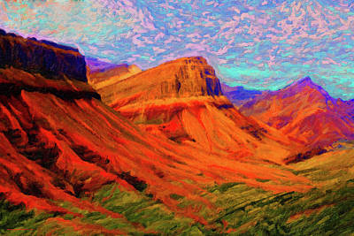 Digital Art - Flowing Rock by Chuck Mountain