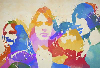 Music Paintings - Floyd Paint Splatter by Dan Sproul