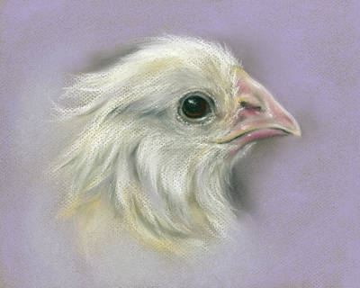 Pastel - Fluffy Yellow Chick On Purple by MM Anderson