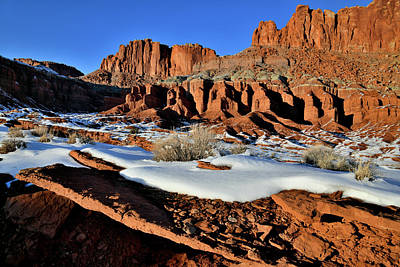 Photograph - Fluted Wall At Sunset In Capitol Reef Np by Ray Mathis