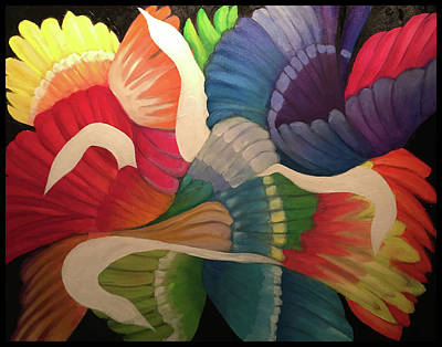Painting - Flutter Of Wings by Larry Rice
