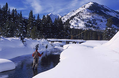 Colorado Fly Fishing River Wall Art - Photograph - Fly Fishing, Slate River, Co by Tom Stillo