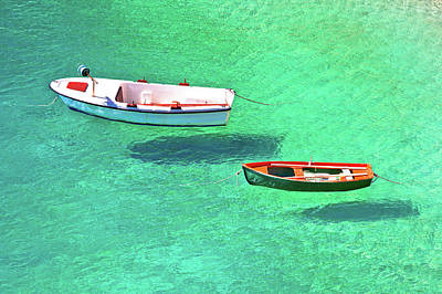Royalty-Free and Rights-Managed Images - Flying boats on turquoise sea aerial view by Brch Photography