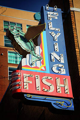 Photograph - Flying Fish by Bud Simpson