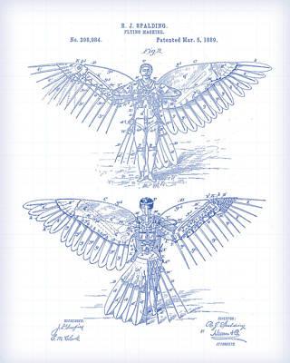 Digital Art - Flying Machine Patent by Gary Grayson