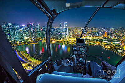 Photograph - flying on Singapore by Benny Marty