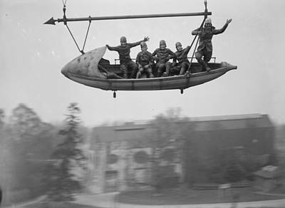 Photograph - Flying Riders by Fox Photos