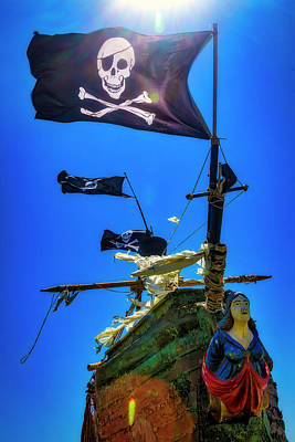 Photograph - Flying The Skull And Bones by Garry Gay