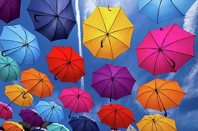 Photograph - Flying Umbrellas I by Peter OReilly