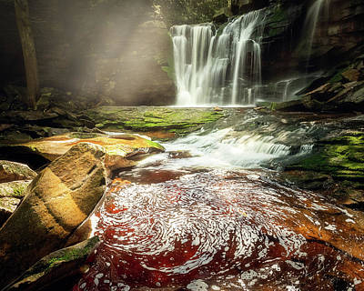 Photograph - Foam Drawing by Elakala Falls by Vladimir Grablev
