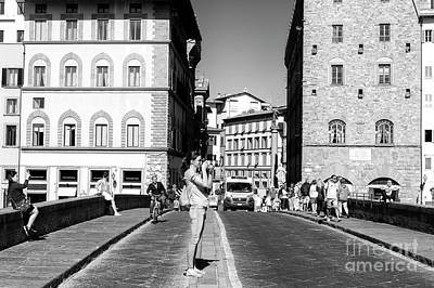 Photograph - Focus On The Ponte Santa Trinita Firenze by John Rizzuto