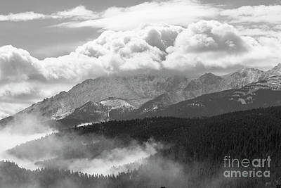 Photograph - Fog And Snow On Pikes Peak Colorado by Steve Krull