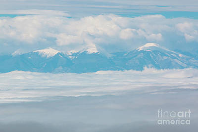 Photograph - Fog And Snow On The Sangre De Cristo by Steve Krull