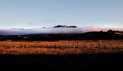 Photograph - Fog Over Boney Mountain by John Rodrigues