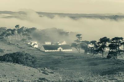 Photograph - Fog Over Pierce Ranch Monochrome by Jonathan Nguyen