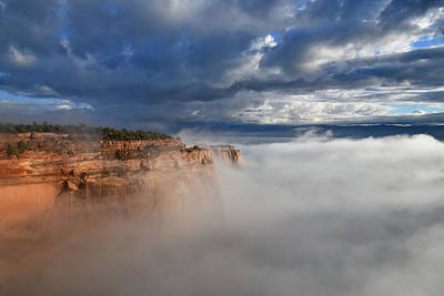Photograph - Fog Rises To Rim Rock Drive In Fruita Canyon by Ray Mathis