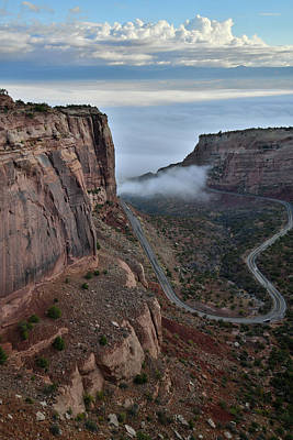 Photograph - Fog Starts To Roll Up Fruita Canyon by Ray Mathis