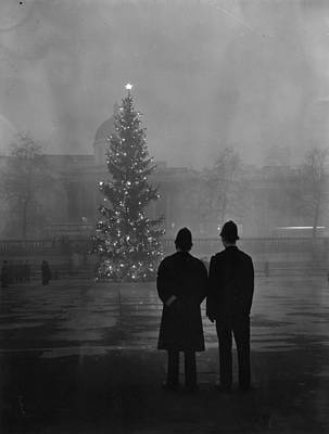 Rear View Photograph - Foggy Christmas by Warburton