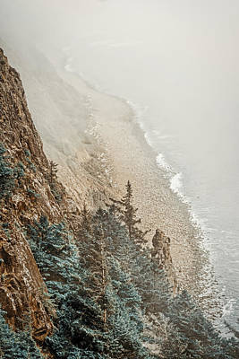 Photograph - Foggy Cliff On The Oregon Coast by Stuart Litoff