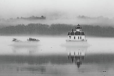 Photograph - Foggy December At Esopus Light by Jeff Severson