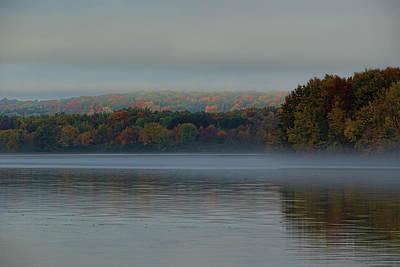 Photograph - Foggy Fall Afternoon On Lake Wausau by Dale Kauzlaric