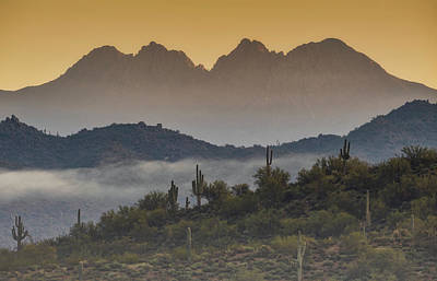 Photograph - Foggy Four Peaks  by Saija Lehtonen