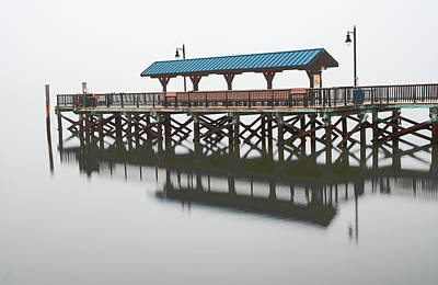 Photograph - Foggy Morning At The Pier by Gary Slawsky