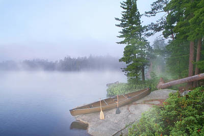 Photograph - Foggy Morning In Canoe Country by Georgepeters