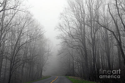 Photograph - Foggy Morning On The Blue Ridge Parkway by Kerri Farley