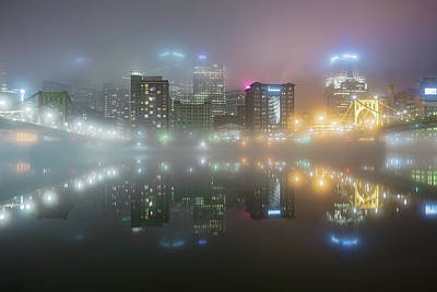 Photograph - Foggy Night  by Emmanuel Panagiotakis