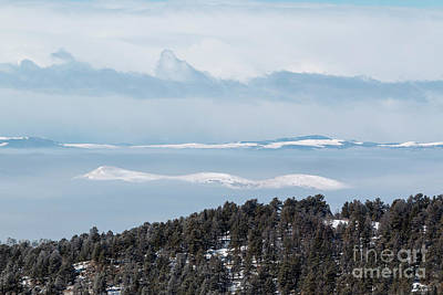 Photograph - Foggy Sangre De Cristo Mountain Valley by Steve Krull