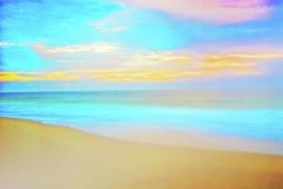 Photograph - Foggy Sunrise. Delmarva Seashore by Bill Jonscher