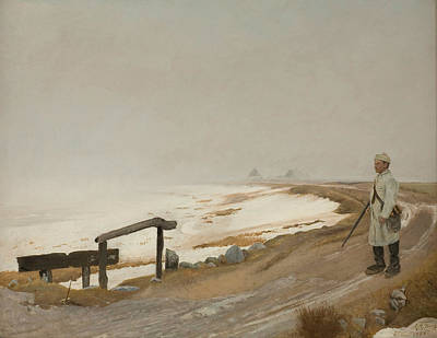 Painting - Foggy Winter's Day. Karrebaeksminde by Laurits Andersen Ring