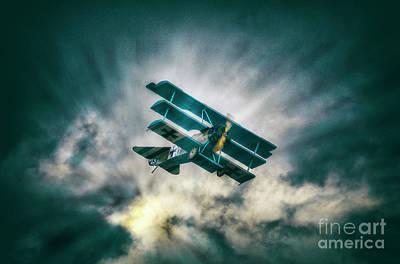 Digital Art - Fokker Triplane Dr1  by Nigel Bangert