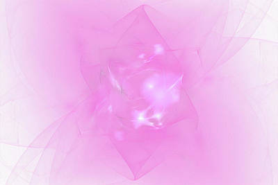 Digital Art - Folds In Pink by Brandi Untz