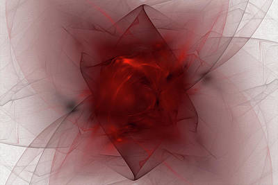 Digital Art - Folds In Red by Brandi Untz