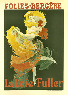 Drawing - Folies Bergere La Loie Fuller by Vintage French Advertising