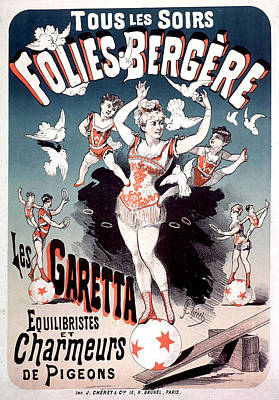 Painting - Folies Bergere Les Garetta 1878 by Vintage French Advertising